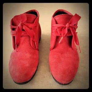 Vintage Red Suede Keds Booties